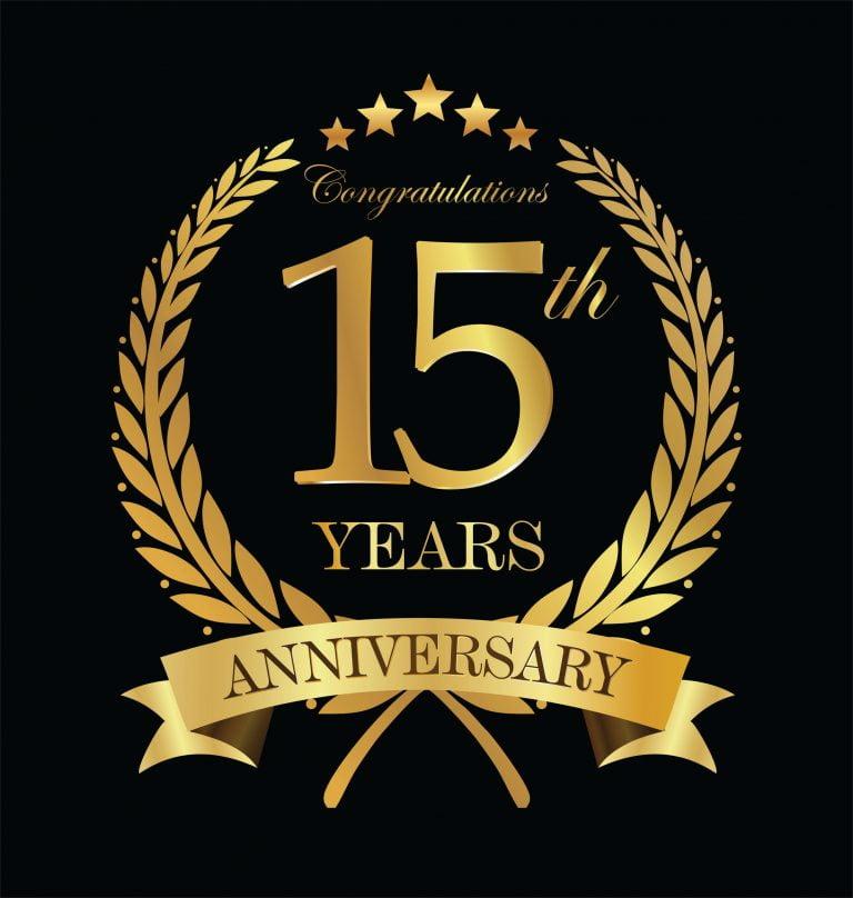85000748 - anniversary golden laurel wreath 15 years