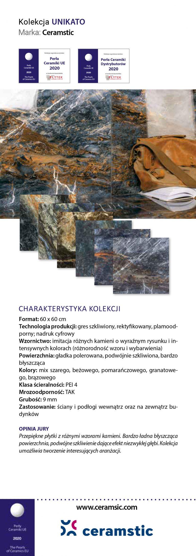Ceramstic Unikato Perły Ceramiki 2020